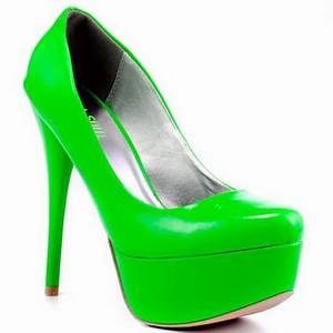 Bright colored high heels