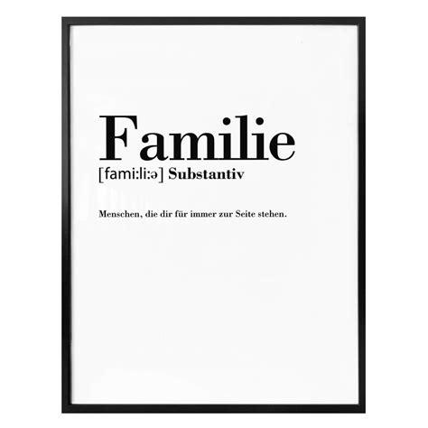 poster grammatik familie wall artde