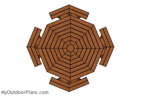 octagonal picnic table plans  picnic table plans