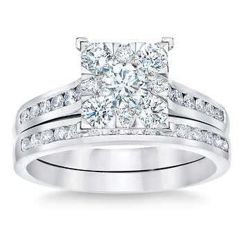 brilliant 1 10 ctw vs2 clarity i color diamond 14kt white gold wedding