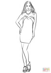 Vestidos, manualidades and google on pinterest. Short Strapless Prom Dress coloring page | Free Printable ...