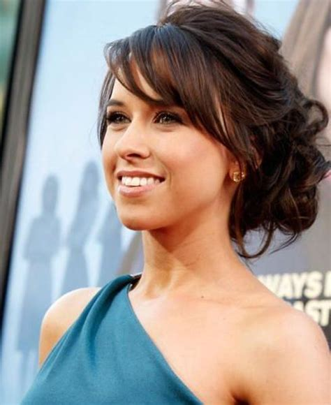 cute updo hairstyles with side swept bangs hair