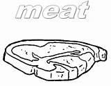 Steak Coloring Beef Template sketch template