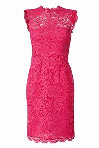 Valentino Hot Pink Lace Dress in Pink | Lyst