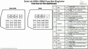 2007 Scion Xa Fuse Diagram