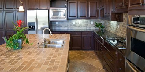 tiles on kitchen countertop tiled kitchen worktops pros cons tile mountain k c r 6233