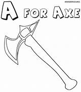Axe Coloring Pages Axe3 1000px 35kb sketch template