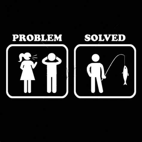 Problem Solved Fishing Marriage Funny Saying T Shirts Mens