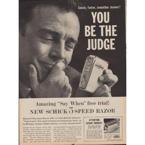 schick electric razor ad judge