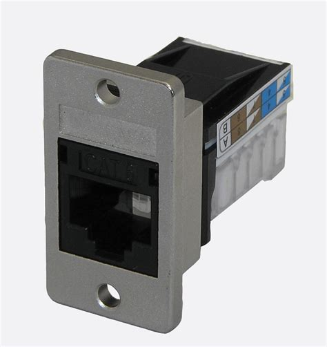 tuk panel mount keystone rj45 idc socket cat6 krone
