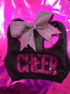 Rhinestone Cheer Sports Bra