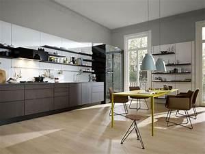 Farbgestaltung Küche Wand : konzentration auf grau wei und schwarz in der k che bild 18 sch ner wohnen ~ Sanjose-hotels-ca.com Haus und Dekorationen