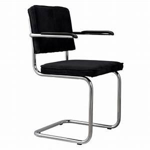 Chaise Velours Noir : chaise zuiver ridge rib velours noir avec cadre achat vente chaise salle a manger pas cher ~ Teatrodelosmanantiales.com Idées de Décoration