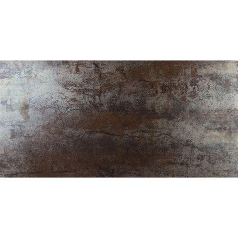 ms international metallica rust 12 in x 24 in glazed