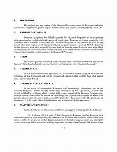 sample software license agreement free download With software license agreement template b2b