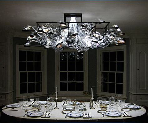 gorgeous fiber optic chandelier casts hypnotic spell