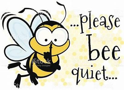 Quiet Please Vector Bee Clipart Library Clip