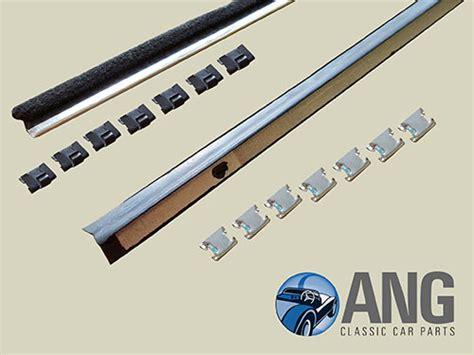 Door Glass Top Inner & Outer Seals Kit ; Tr4, Tr4a