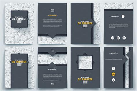 3d printer templates brochure on 3d printer theme brochure templates on creative market