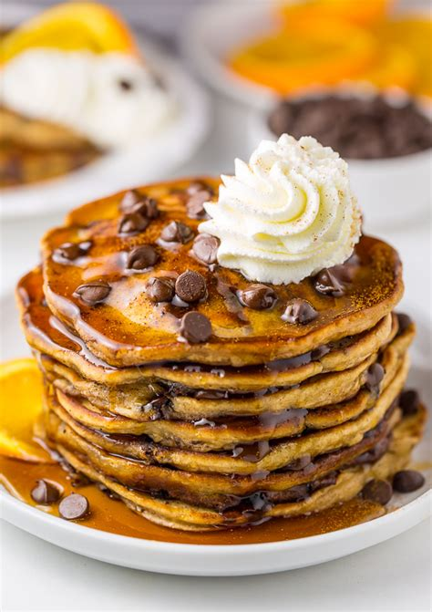 chocolate chip pancakes light and fluffy chocolate chip pancakes baker by nature