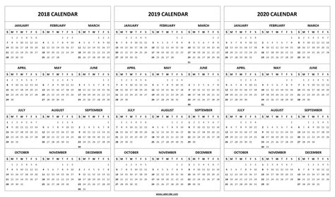printable calendar template year editable calendar