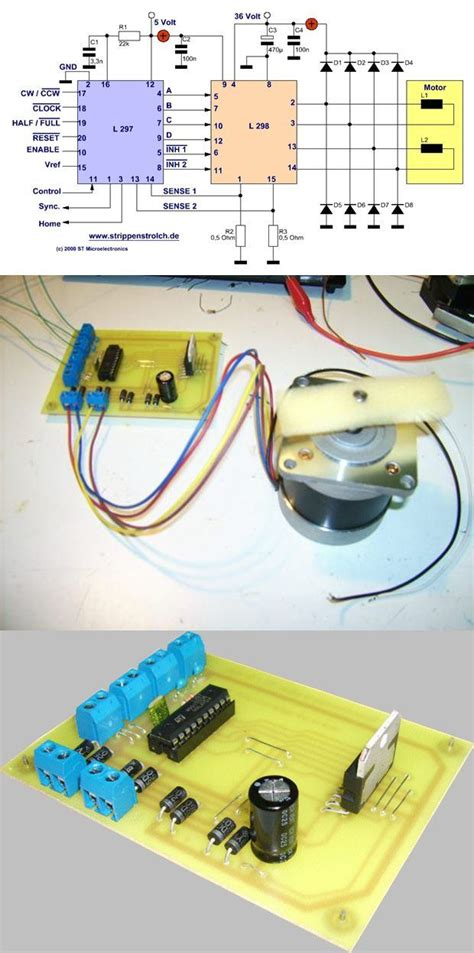Stepper Motor Driver Circuit With Electronics