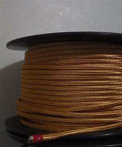 Gold Parallel Rayon Covered Wire Antique Vintage Style