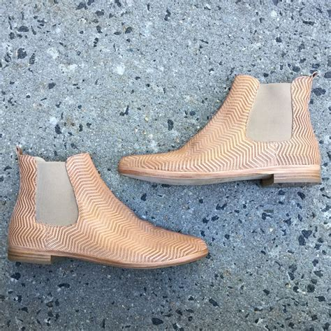 Italian Designer handcrafted Tan Chelsea boots, available ...
