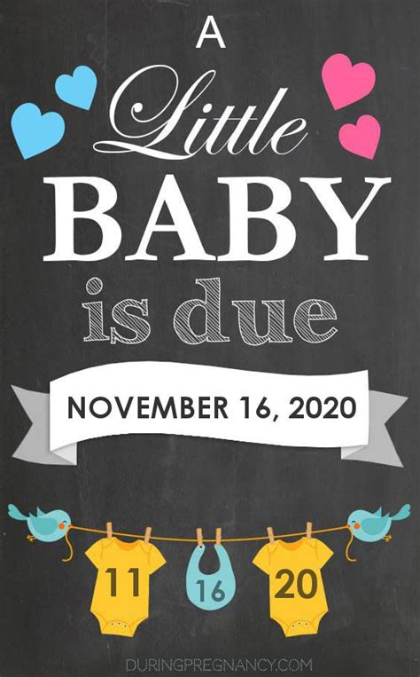 Due Date: November 16 2020 During Pregnancy