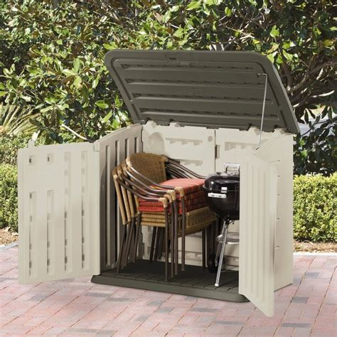 Rubbermaid Plastic Horizontal Outdoor Storage Shed is