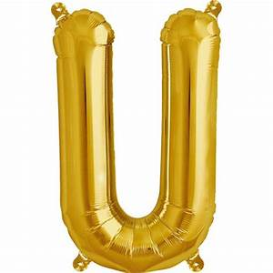 northstar balloons inflatable foil balloon letter u gold 16quot With gold inflatable letters