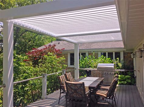 arcadia louvered roofs for decks other metro by