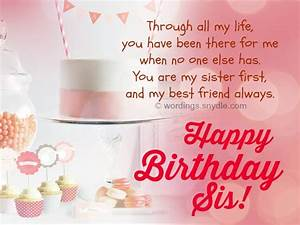Happy Birthday Wishes for Sister - Wordings and Messages