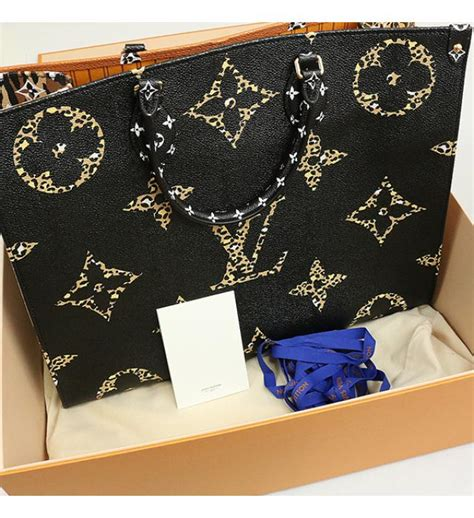 ginza store  goods louis vuitton    gm lv jungle monogram giant tote bag black brown
