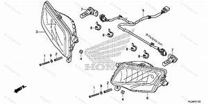 Honda Side By Side 2016 Oem Parts Diagram For Headlight