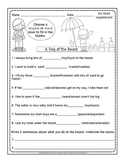 noun lessons    teach  st grade part