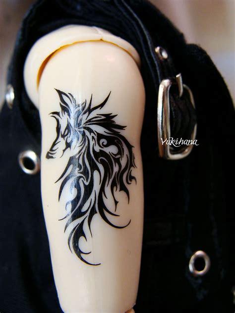 wolf tribal armband tattoos