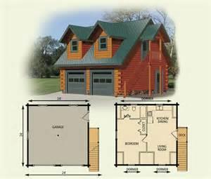 log home garage cottage - Cabin Plans With Garage