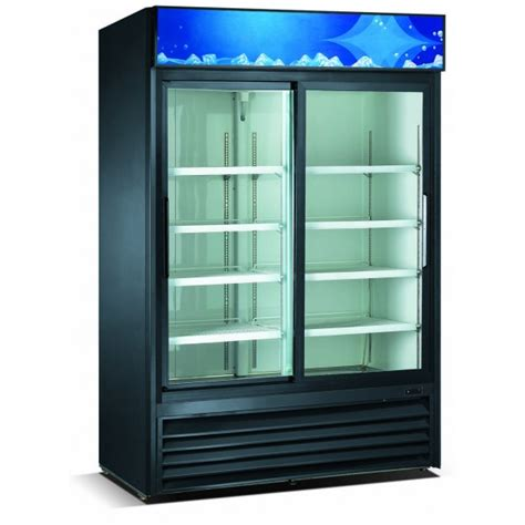 Glass Door Refrigerator Freezer For Home Double Sliding Glass Doors Merchandiser