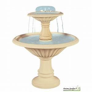 Fontaine Circuit Fermé : fontaine cascade en pierre reconstitu e 2 vasques h ~ Premium-room.com Idées de Décoration