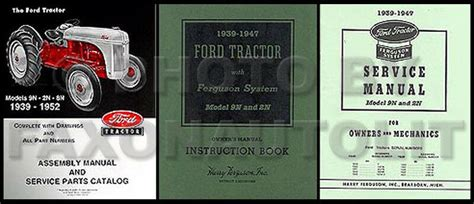ford    manual set tractor owners guide