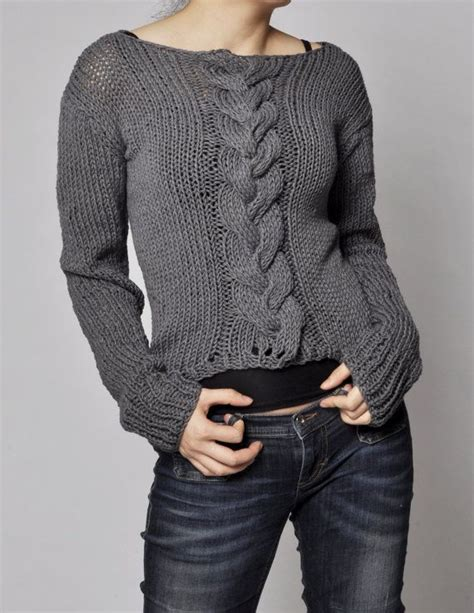 knit sweaters knitted sweater charcoal sweater cable pattern