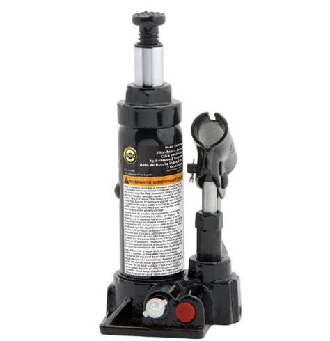 Omega 10125b Black Hydraulic Bottle Jack  12 Ton Capacity