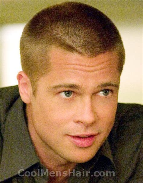 Brad Pitt with cowlick at his hairline.   Manteresting