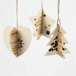 Two Part Hanging Decoration with Wood Veneer and Graphic