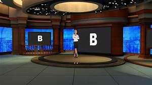 Virtual Set Studio 186 for vMix is a talk show virtual ...