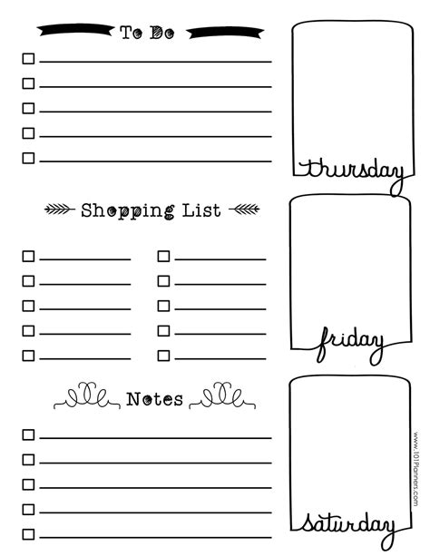 journal template free bullet journal printables customize for any planner size