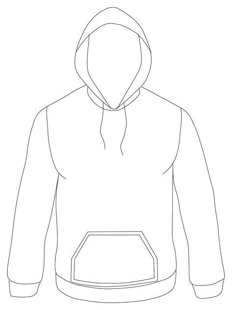 11 Hoodie Vector Template Images - Hoodie Design Template ...