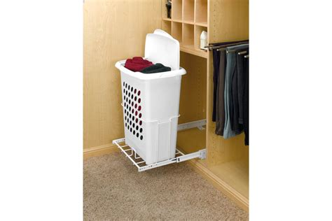 separate garbage  laundry hamper  small spaces