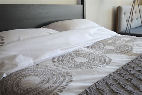 gray bedding sets king cloud grey embroidered cotton bedding bed co
